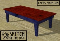 Sketch of the Day: Cabin Coffee Table | Chief's Shop