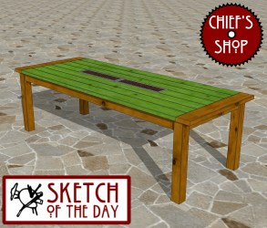 woodworking dining sketch table