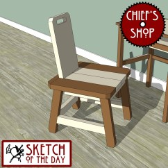 Kitchen Desk Chair Black Bean Bag Sketch Of The Day Simple Woodworking
