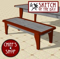 kitchen table bench | Chief's Shop