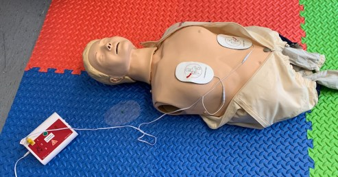 AED Training as part of the HSE First Aid a Work Re-qualification Training Course