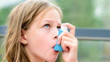 child using an inhaler