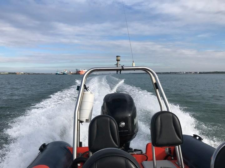 powerboat-on-sea