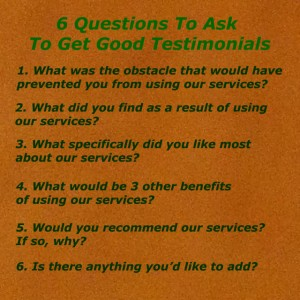 6 testimonials to ask to get good testimonials