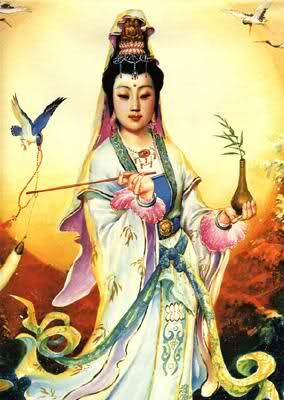 Kuan Yin, who sees and hears the cry