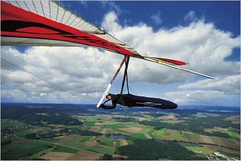 Drachen  Gleitschirmfliegen Chiemsee Chiemgau Drachenfliegen Gleitschirm Paragliding
