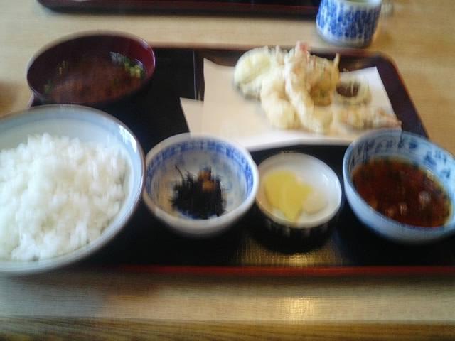 金屋食堂天ぷら定食