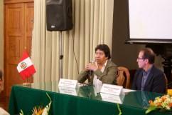 Jesús Gordillo Begazo (Arqueólogo) y Pedro Santiago Allemant (Realizador del filme)