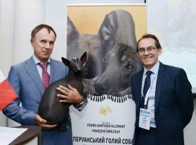 Igor Balenko - Honorary Consul of the Republic of Peru in Ukraine, Nieva Taysha Pazzda and Pedro Santiago Allemant - movie Director. Photo by: Mauricio Alvarez