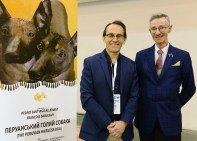 "Pedro Santiago Allemant – movie Director and Paul Stanton – Federation Cynologique International ""FCI"" judge for all breeds – Sweden. Photo by: Mauricio Alvarez"