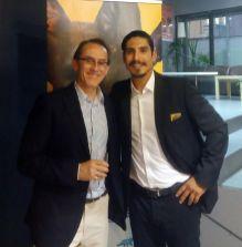 Pedro Santiago Allemant - Movie director and Daniel Casanave. Photo by Yulia Kremenetskaia