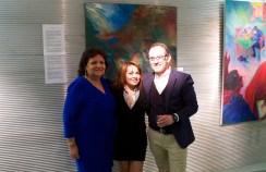 Membres de l'association Nazca - Bruxelles et Pedro Santiago Allemant (réalisateur du film)