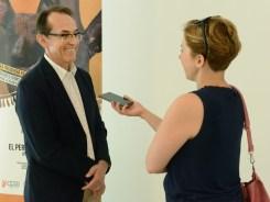 Pedro Allemant en una entrevista de la periodista Anamarija Bilan de Zadarski Post. Foto: Mauricio Alvarez.