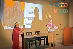 In the picture: Marleni Batalla Paredes Aguinaga and Leonidas Guevara Ramirez (artists) at Museo Nacional Sicán. By Favio Jordi Martínez Nuntón / appp – adpp ©2018 / Art design by Alessandro Pucci