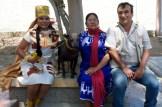 """Srta.Rut Ysabel Reyes Garcia (representando a la Sacerdotisa de Chotuna-Chornancap) acompañada de """"Killa"""" (ejemplar de raza Perro sin pelo del Perú - hembra), Sra. Consuelo Salas Valladolid (Presidenta de la Asociación """"Mosaico Cultural"""" y Asistenta en servicio de Educación y Cultura de la UNPRG y Dr. Marco Seclén Fernández (Director del Museo Chotuna-Chornancap). Photo by Favio Jordi Martínez Nuntón / appp – adpp ©2018"""