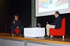 Blgo. Víctor Félix Vásquez Sánchez (participante central del documental – Director de Arqueobios) y Pedro Allemant (realizador) – Photo by Mercy Castro Haro.