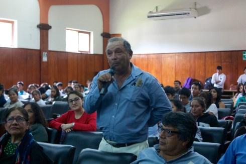 """""""El Perro sin pelo del Perú con pelo"""": Presentación en la Universidad Nacional Pedro Ruíz Gallo. Photo by Favio Jordi Martínez Nuntón / appp – adpp©2019."""