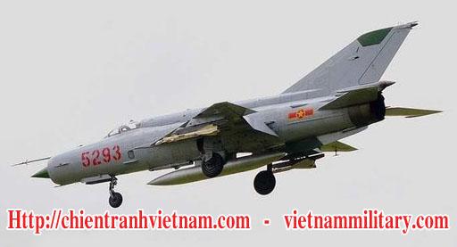 Máy bay Mikoyan Gurevich MIG-21 của không quân Việt Nam trong chiến tranh Việt Nam - Vietnamese People's Air Force, VPAF Mikoyan Gurevich MiG-21 in Viet Nam war