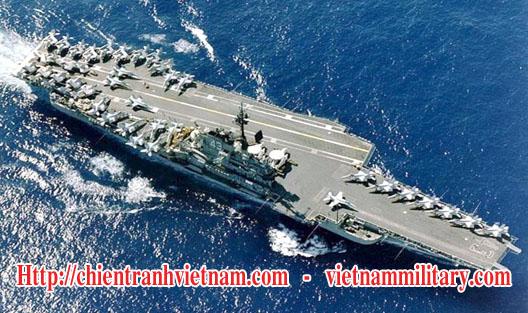 Các tàu sân bay, Hàng không mẫu hạm Mỹ USS Coral Sea ( CV-43 ) từng tham chiến ở Việt Nam - Us aircraft carrier USS Coral Sea ( CV-43 ) joined Viet Nam war