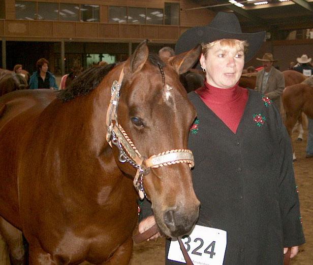 Monique en Okie op het NK in 2003