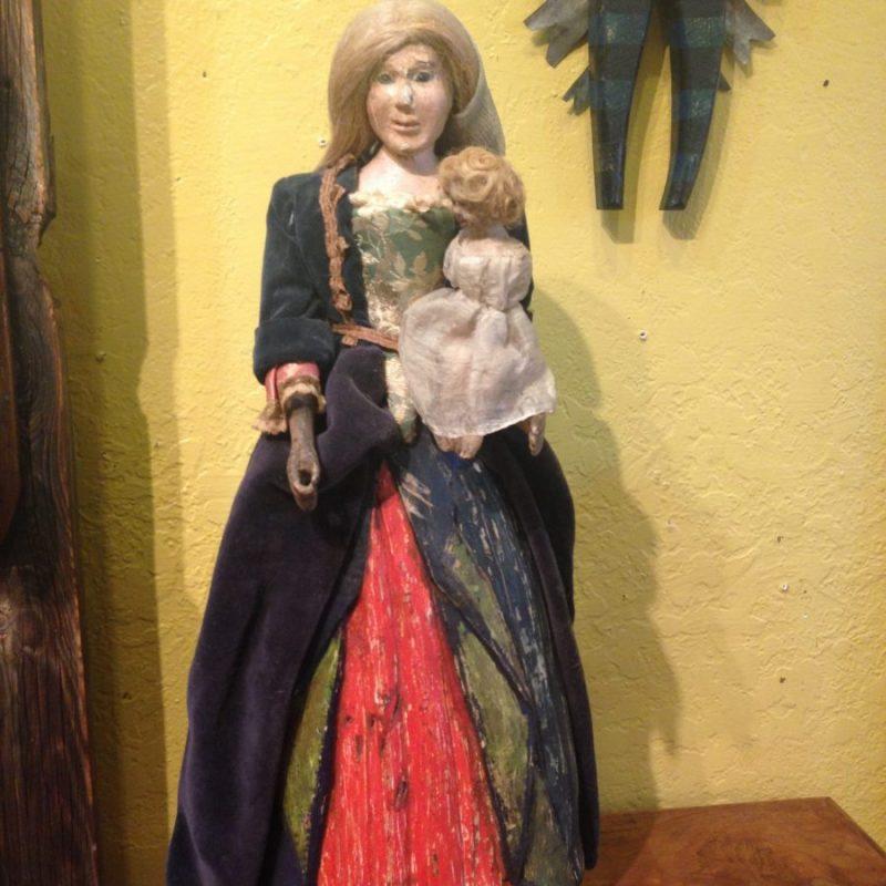 Antique Santero Figure, 1860  $375