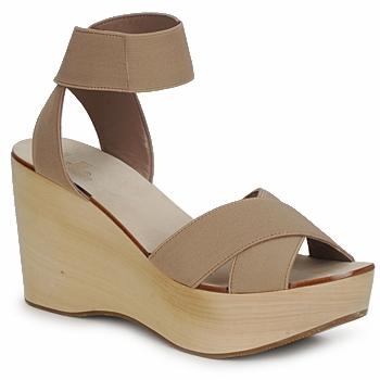 sandales elastic nude