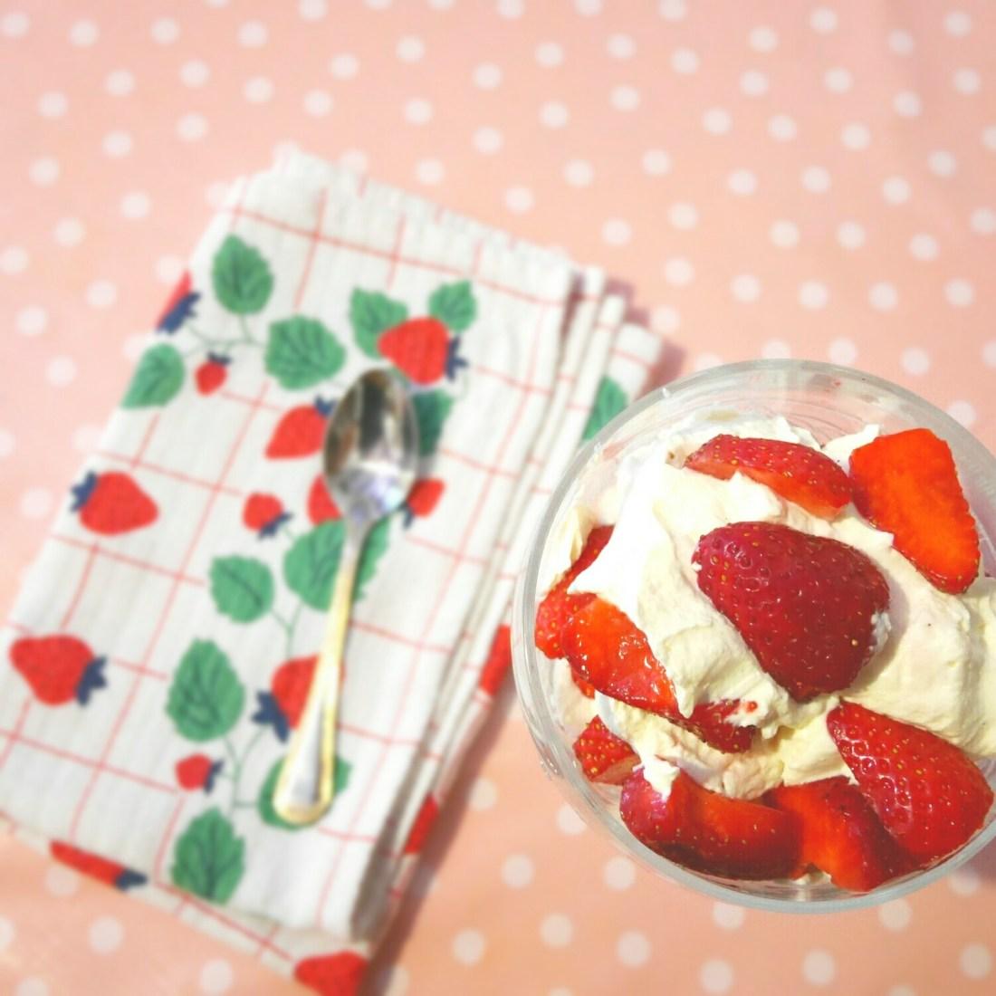 Coupe de fraises à la crème