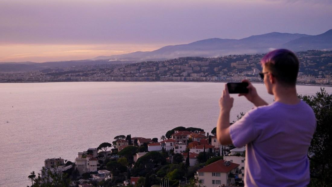 vue depuis le Mont Boron à Nice
