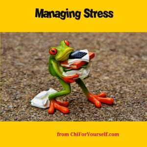 managing stress graphic