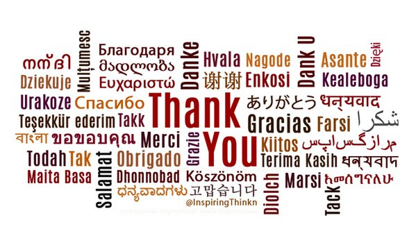 graphic saying thank you