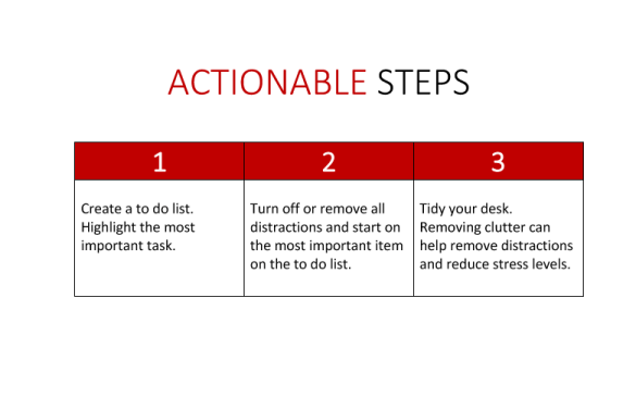 tips to get things done