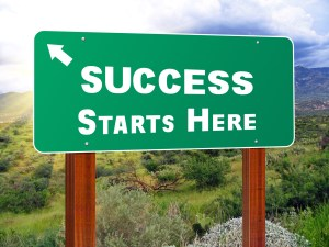 success sign with purpose