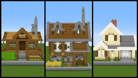 minecraft chunk simple designs easy layout blueprints houses modern