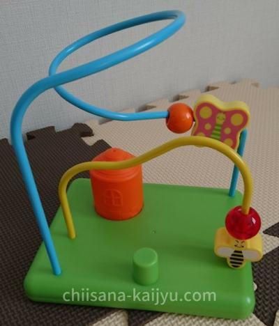 こどもちゃれんじベビー 11カ月号のおもちゃ「すいすいルーピングコースター」