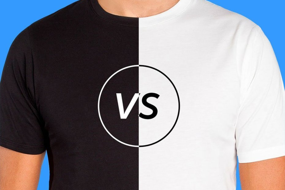 Find out what changes when printing on a black or white t-shirt