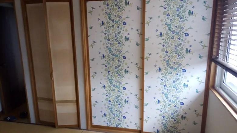ふすまの張り替えを自分でやってみました 和室リフォーム襖 ふすま