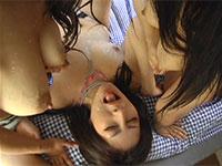 母乳トリプルレズビアン!二人から顔に大量の母乳を噴射されるなんとも羨ましいプレイ