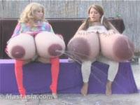 最早計測不能な人知を超えた超乳首から数リットルの母乳を噴出させる女達の動画