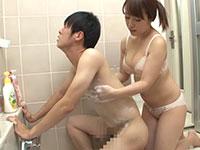 イジメっ子の姉にお風呂で落書きを洗い流して貰っていたら、僕の敏感な乳首を執拗に弄ってきて・・・という神シチュ動画