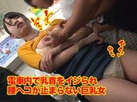 薄手の服で電車に乗ったら痴漢に狙われネットリコリコリ乳首を焦らしイジられ腰ヘコが止まらない美巨乳の朱果ちゃんの乳首痴漢動画!