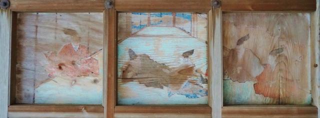 福岡県みやま市瀬高町太神 釣殿宮拝殿の天井絵 畳 屋敷