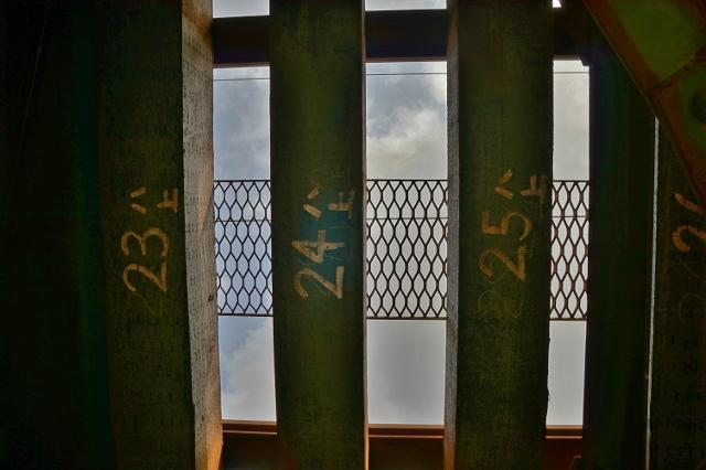 福岡県みやま市 JR飯江川橋りょう 線路 枕木の番号 24ハ上
