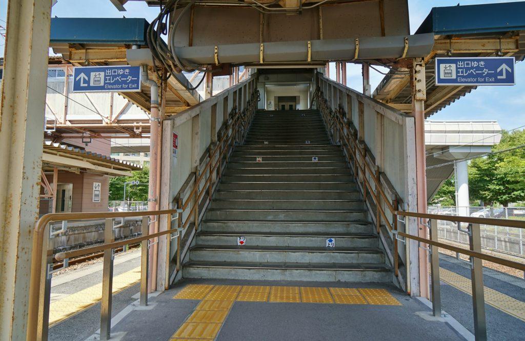 福岡県みやま市瀬高町下庄 JR瀬高駅 九州旅客鉄道鹿児島本線 階段