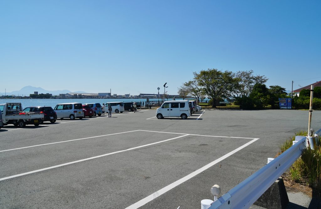 福岡県大牟田市新港町 あいあい広場 駐車場 ちくごさるき