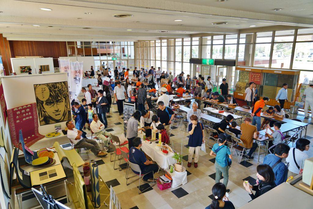 福岡県大川市 木工祭 展示 組子体験会場