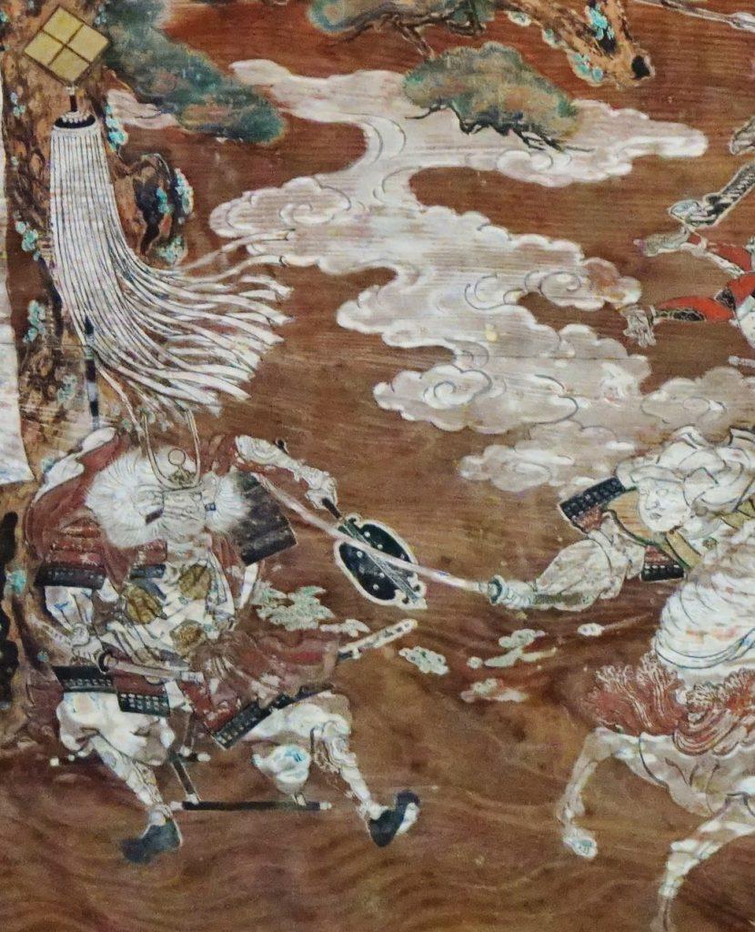 福岡県八女市黒木町湯辺田95 釜屋神社の楠 拝殿内の絵画 武田信玄公