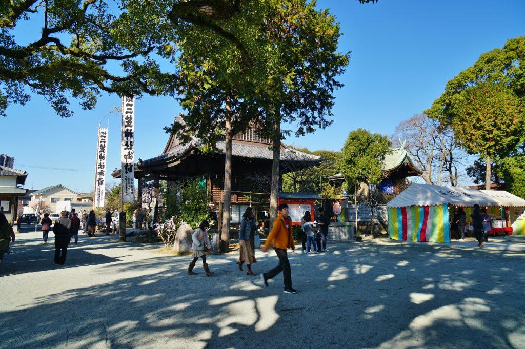 福岡県大牟田市鳥塚町88 三笠神社 拝殿と神殿 境内