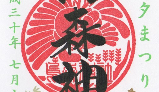 【2018年】東京で頂ける夏越の大祓&七夕の節句&夏詣限定御朱印まとめ