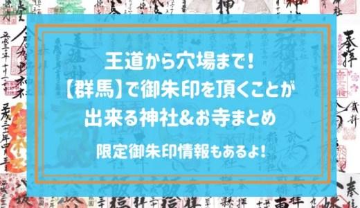 【限定御朱印情報もあるよ!】王道から穴場まで!群馬で御朱印を頂くことが出来る神社&お寺まとめ