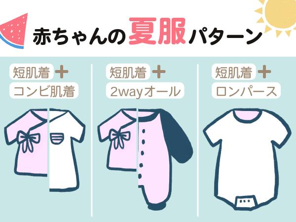 赤ちゃん夏服パターン